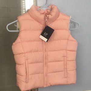 Gap Pink Fleece/Sherpa Lined Vest